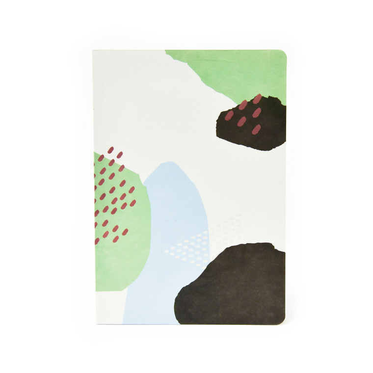 Hanji Collage Notebook - Mountain