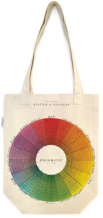 Color Wheel Vintage Tote Bag