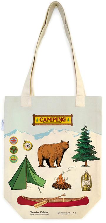 Camping Vintage Tote Bag