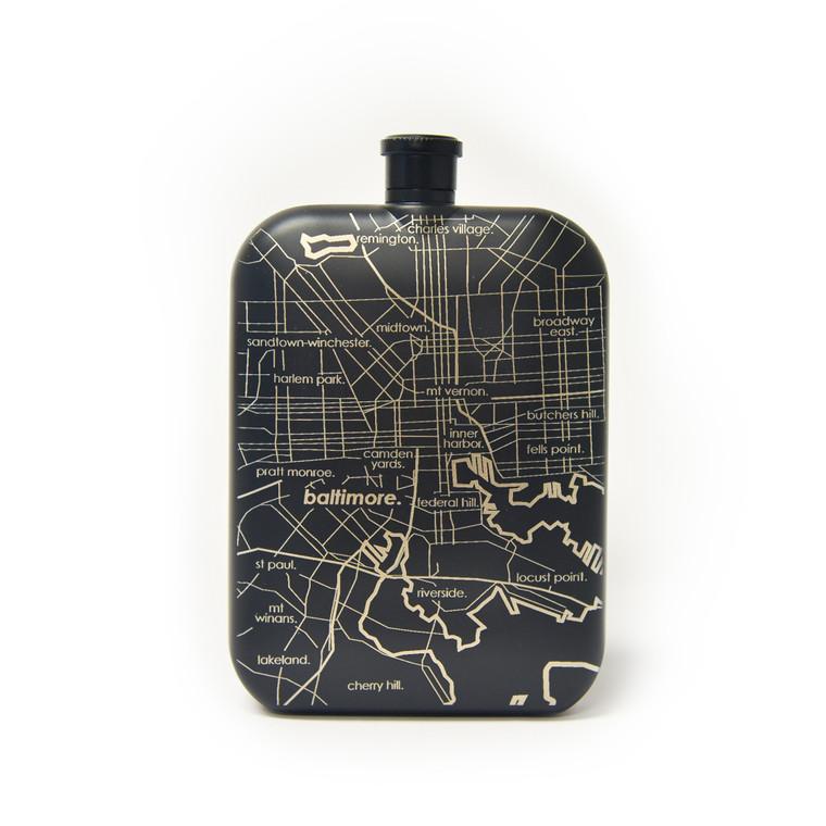 Baltimore Map Flask