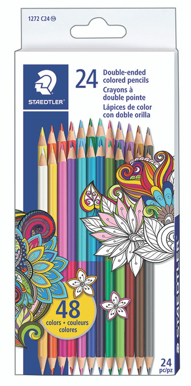 Double-Ended Colored Pencils Set of 24