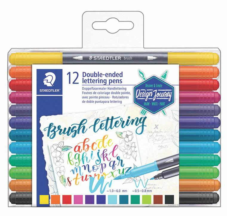 Double-Ended Brush Lettering Pens Set of 12