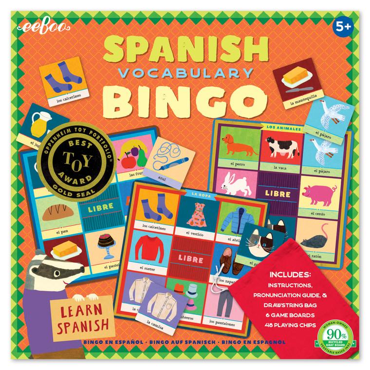 Spanish Vocabulary Bingo