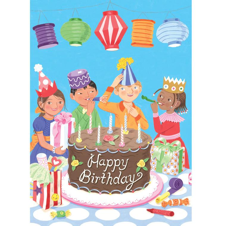 Birthday Party Lanterns Card
