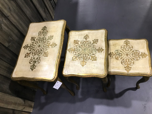 Nest of 3 Florentine Tables