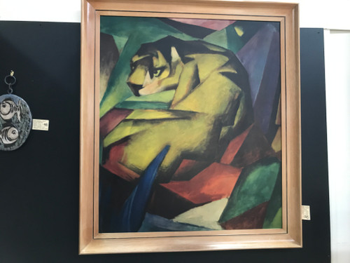 Cubist Tiger by German Artist Franz Marc