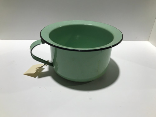 Mint Green Enamel Chamber Pot