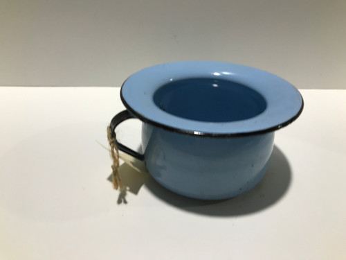 Small Light Blue Enamel Chamber Pot