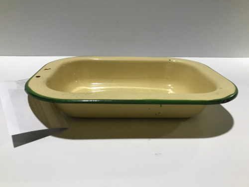 Enamel Yellow Pie Dish