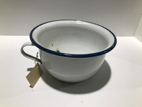 White Enamel Chamber Pot