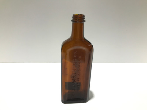 "Amber Bottle - ""The J.R.Watkins co. Made in Australia"""