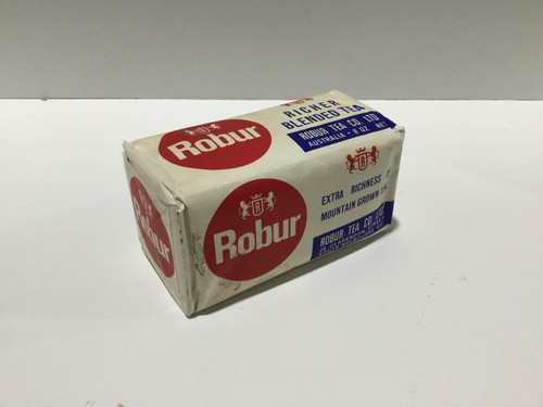 Rare Complete 8oz 1960's Unopened Packet of ROBUR Tea