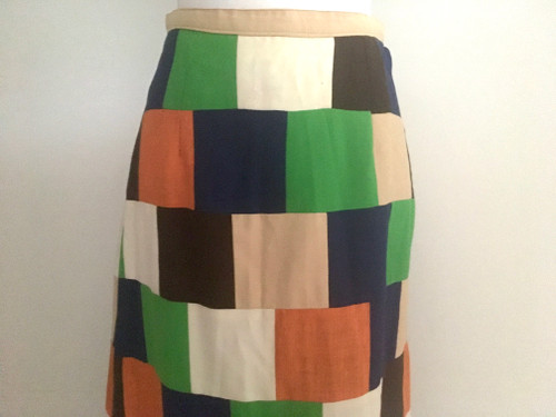 Retro 1960's Patchwork Maxi Skirt