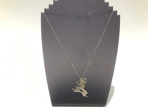 Sterling Silver Chain and Frog Pendant