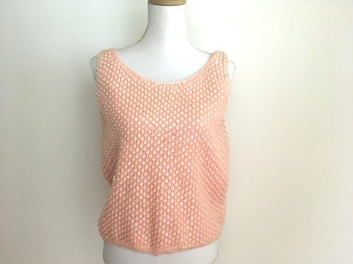 Forum Fashions Vintage 1960's Pink Wool Sequin Top