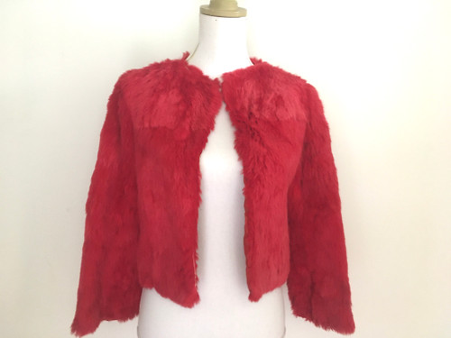 Vintage Red Rabbit 1940's Fur Jacket