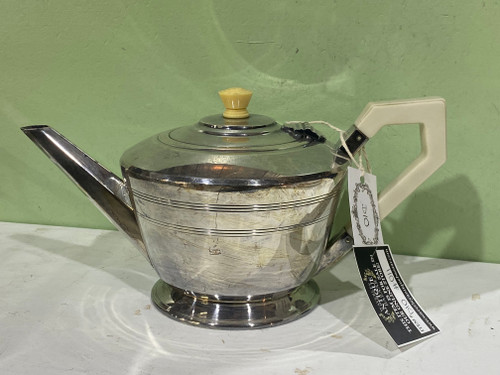 Art Deco Harrison Bros & Hawson Silver Plate Teapot