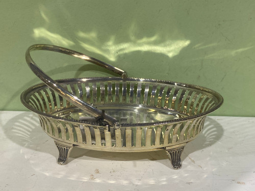 Sterling Silver Basket - Hardy Bros, Made in England