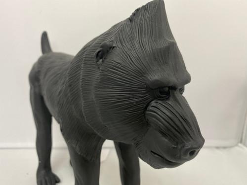 Black Mandrill / Baboon Resin Statue