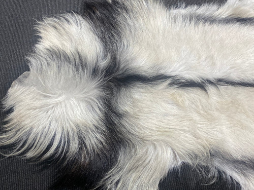Black & White Goat Skin Rug - 1200 x 800mm