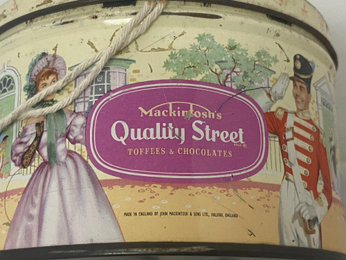 Vintage MACKINTOSH'S QUALITY STREET 1LB Round Tin