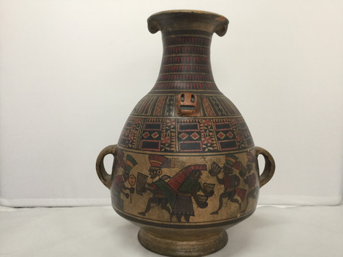 Chinese Pottery Vase 25cm Tall