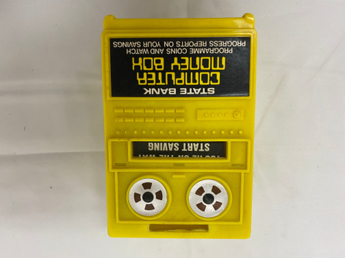 STATE BANK Computer Money Box - Vintage Spring Loaded Plastic, Very collectable!