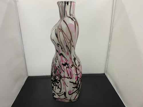 HUGE Art Glass Female Body/Bust Vase/Handblown, 44cm Tall