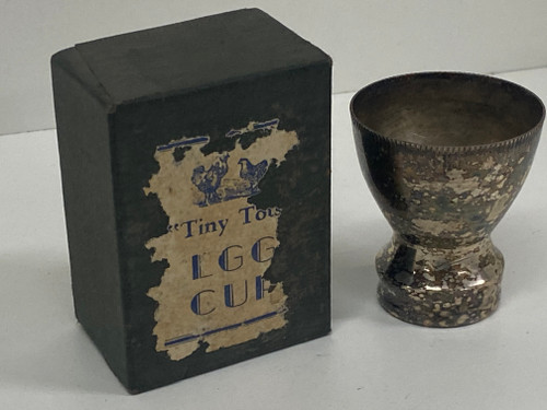Gorgeous Vintage Silver Plated TINY TOTS Egg Cup w/Original Box