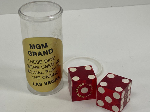 Super Cool MGM GRAND Numbered Las Vegas Casino Dice