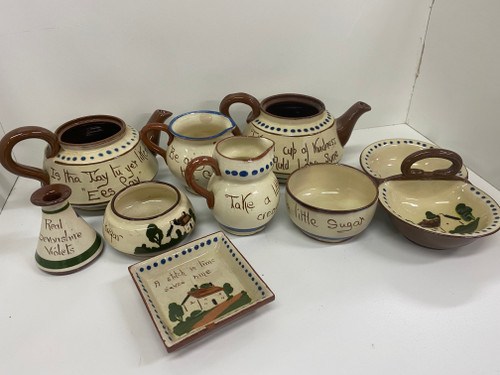 Bulk Lot - 9 Pieces TORQUAY WARE Pottery