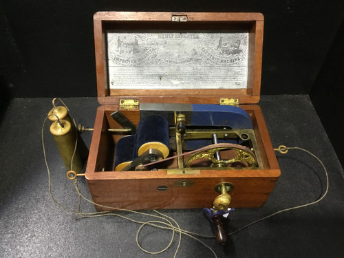 DAVIS & KIDDER'S 1854 Patent Magneto-Electric Machine for Nervous Diseases