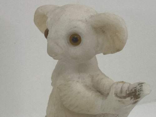 Bisque Like Koala Figure, Moulded, Stamped 'CL' '6.9.37' 1937