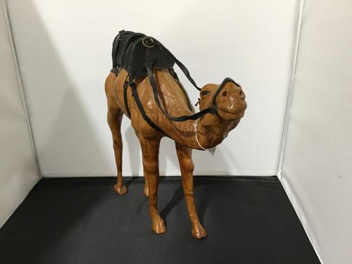 Large Vintage Leather Bound Camel