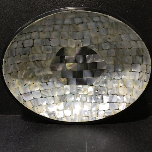 Fabulous Shell Lined Oval Bowl