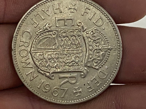 1967 Half Crown, Elizabeth II Collectable Coin