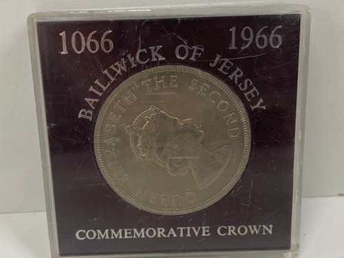 1066-1966  BAILIWICK OF JERSEY Five Shillings Commemorative Crown Collectable Coin