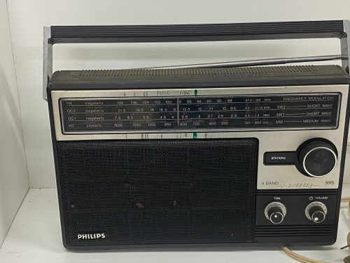 Super Cool Retro PHILIPS Radio, AC & Battery Operated, 4 Band 595
