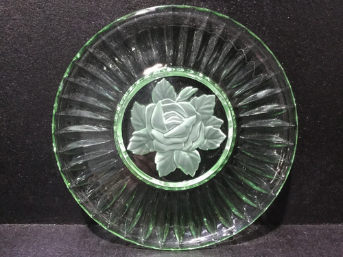 Absolutely Stunning Green Glass Plate