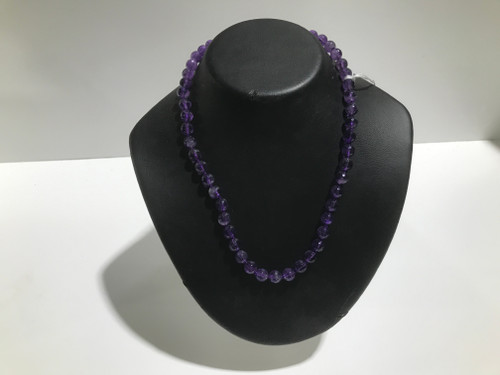 Round Faceted Amethyst Beads