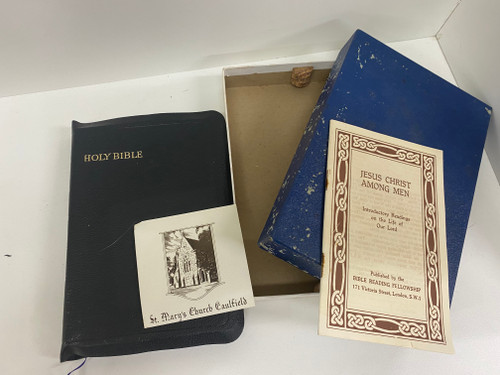Vintage 'The Holy Reference Bible' 1955 with St Mary's Church Caulfield Inserts