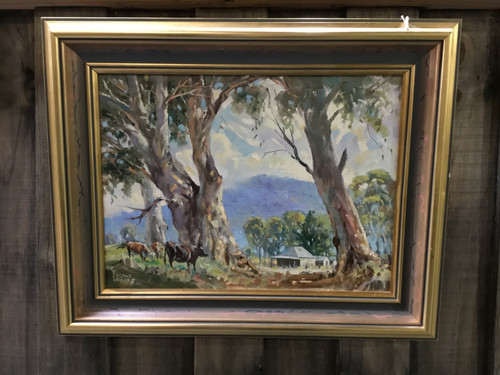 GEORGE BROOKE 'Drovers Donga' Oil Painting