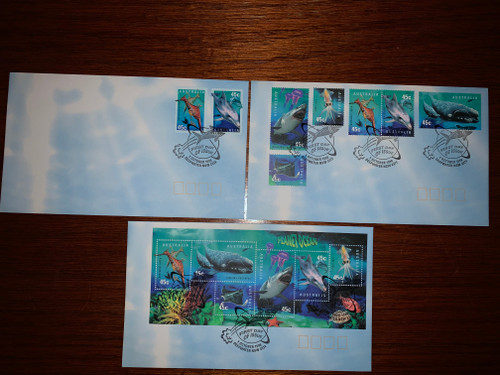 Set of 3 Australian First Day Covers - Planet Ocean 1998