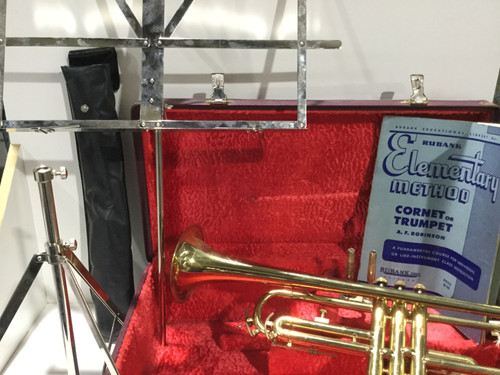 CLINTON Brass Trumpet, Carry Case And Various Accessories