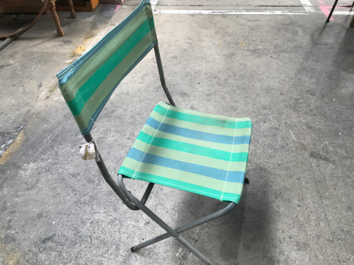 Folding Striped Chair