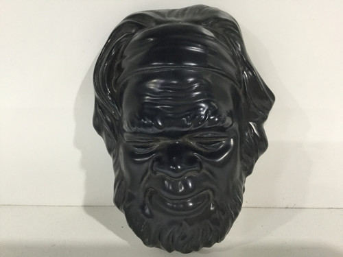 Small Black Aboriginal Ceramic Mask - 15cm Tall