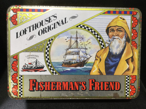 Vintage LOFTHOUSE'S ORIGINAL Fisherman's Friend Tin