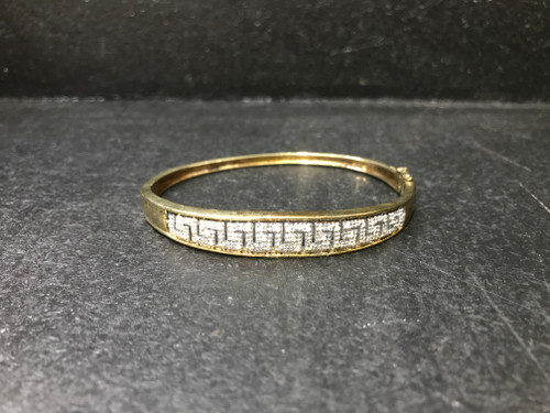Gold Plated 925 Bangle