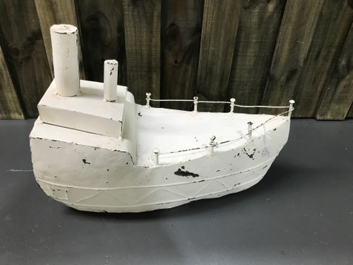 Large  White Tin Boat