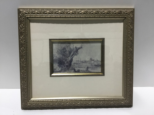 Gold Framed Black and White Print